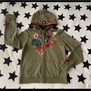 Girls Lucky Brand zip up hoodie size 12